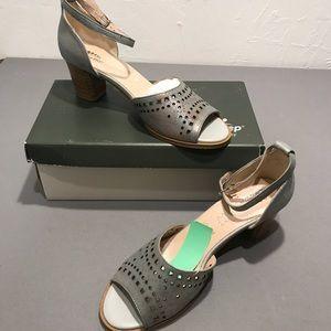 SPRING STEP kanisha grey heel sandal metallic 39